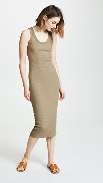 Enza Costa Rib Bold Tank Midi Dress