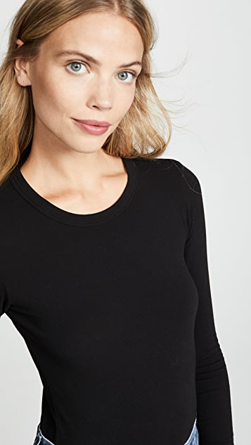 Enza Costa Long Sleeve Crew Bodysuit