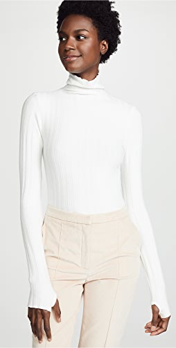Enza Costa - Ribbed Cropped Turtleneck