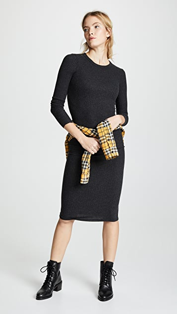 Enza Costa Back Keyhole Midi Dress