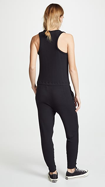 Enza Costa Sleeveless Drawcord Jumpsuit