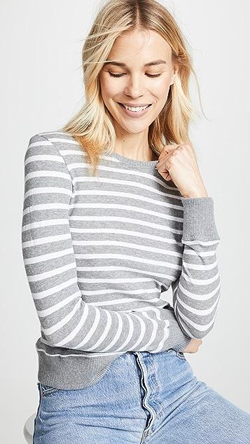 Enza Costa Cashmere Stripe Cropped Sweater