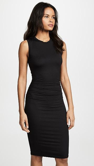 Enza Costa Side Ruched Midi Dress