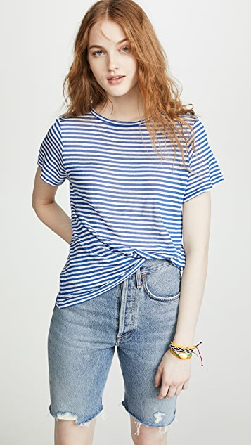 Enza Costa Stripe Easy Tee