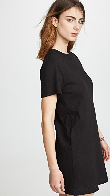 Enza Costa Slubbed T-Shirt Dress