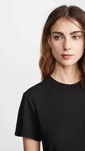 Enza Costa 竹节纹 T 恤连衣裙