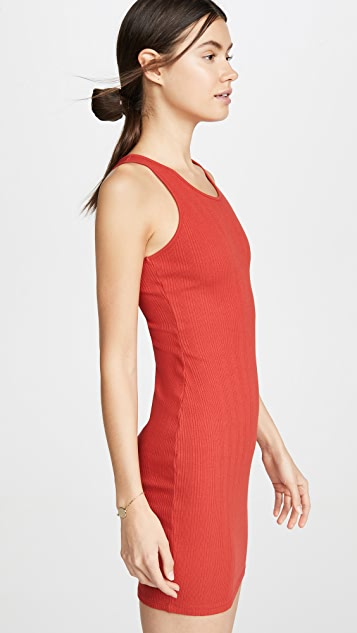 Enza Costa Rib Racer Mini Dress