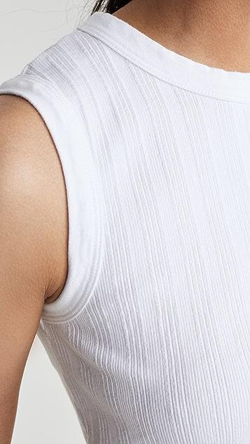 Enza Costa 杂色罗纹背心