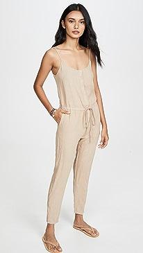 Linen Strappy Jumpsuit