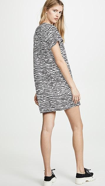 Enza Costa Zebra Tee Dress