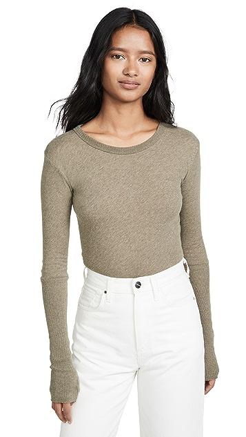 Enza Costa Рубашка с манжетами и округлым вырезом