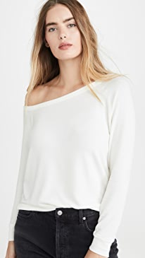 Peached Jersey Easy Off Shoulder Top