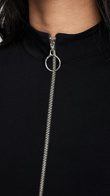 Enza Costa 意大利粘纤半高领丁字裤紧身连体衣