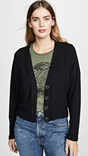 Enza Costa Sweater Knit Dropped Cardigan