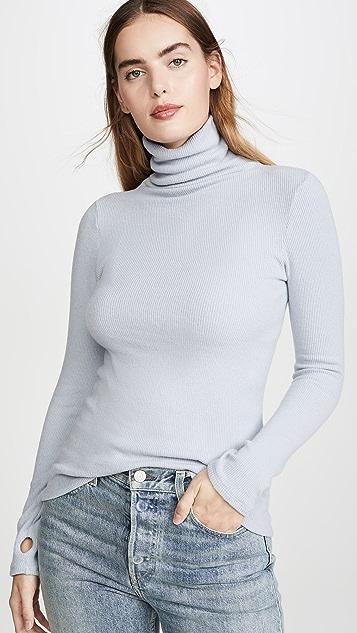 Enza Costa Long Sleeve Turtleneck Sweater