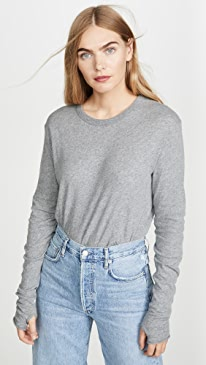 Cashmere Loose Crew Top
