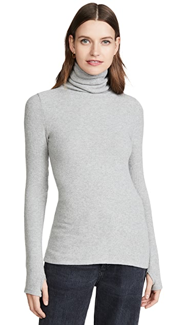 Enza Costa Sweater Knit Turtleneck