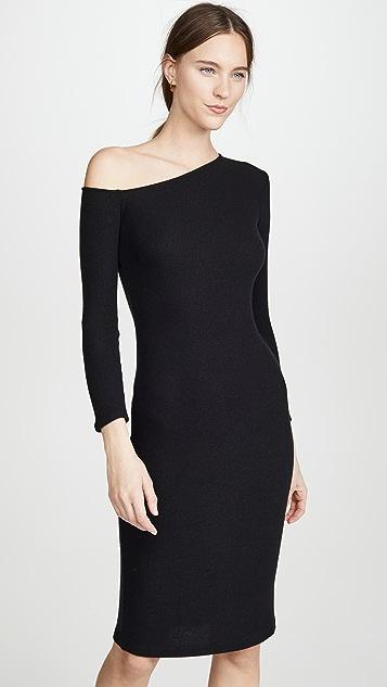 Enza Costa Angled Neck Midi Dress