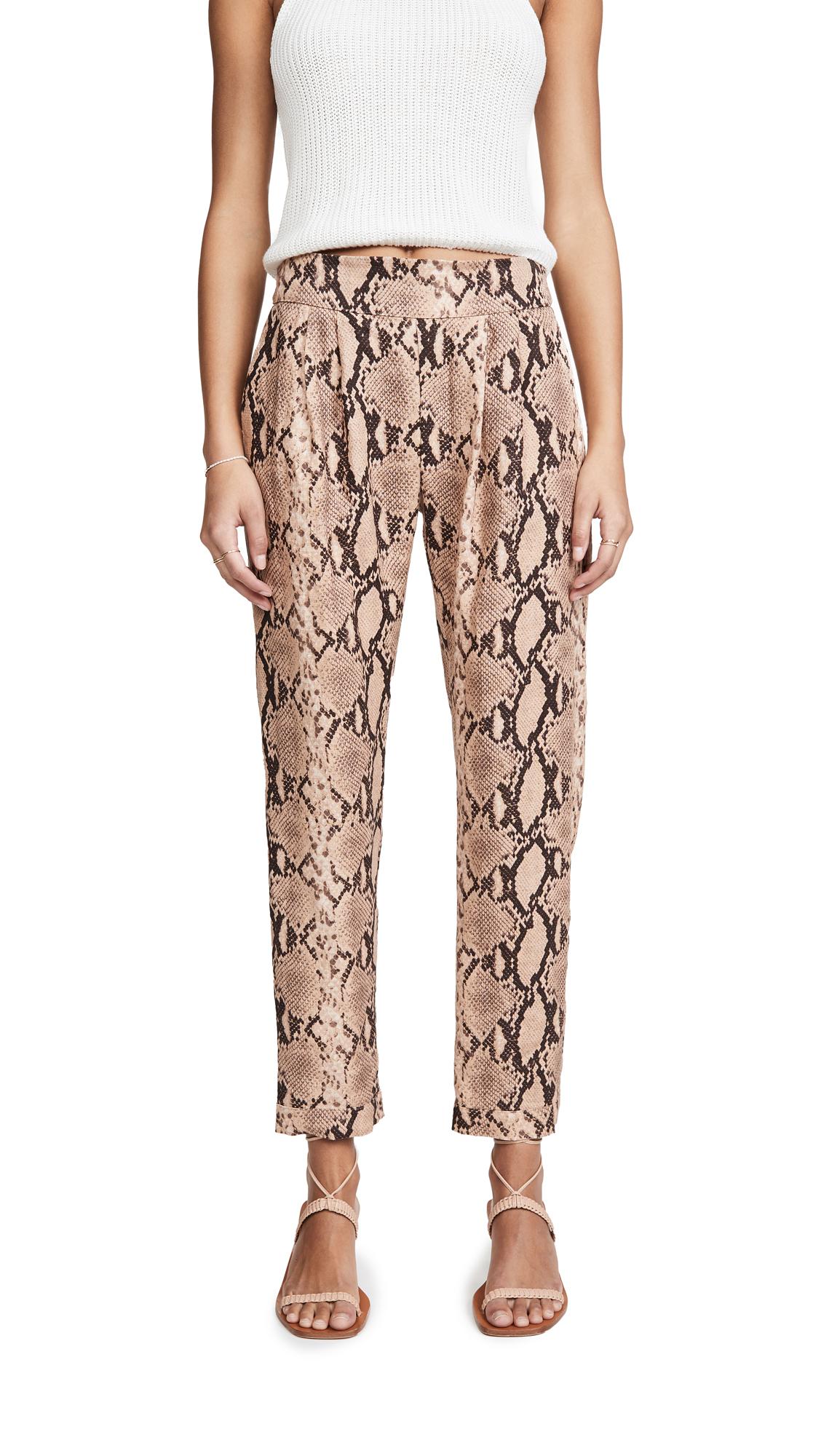 Enza Costa Printed Linen Easy Pants