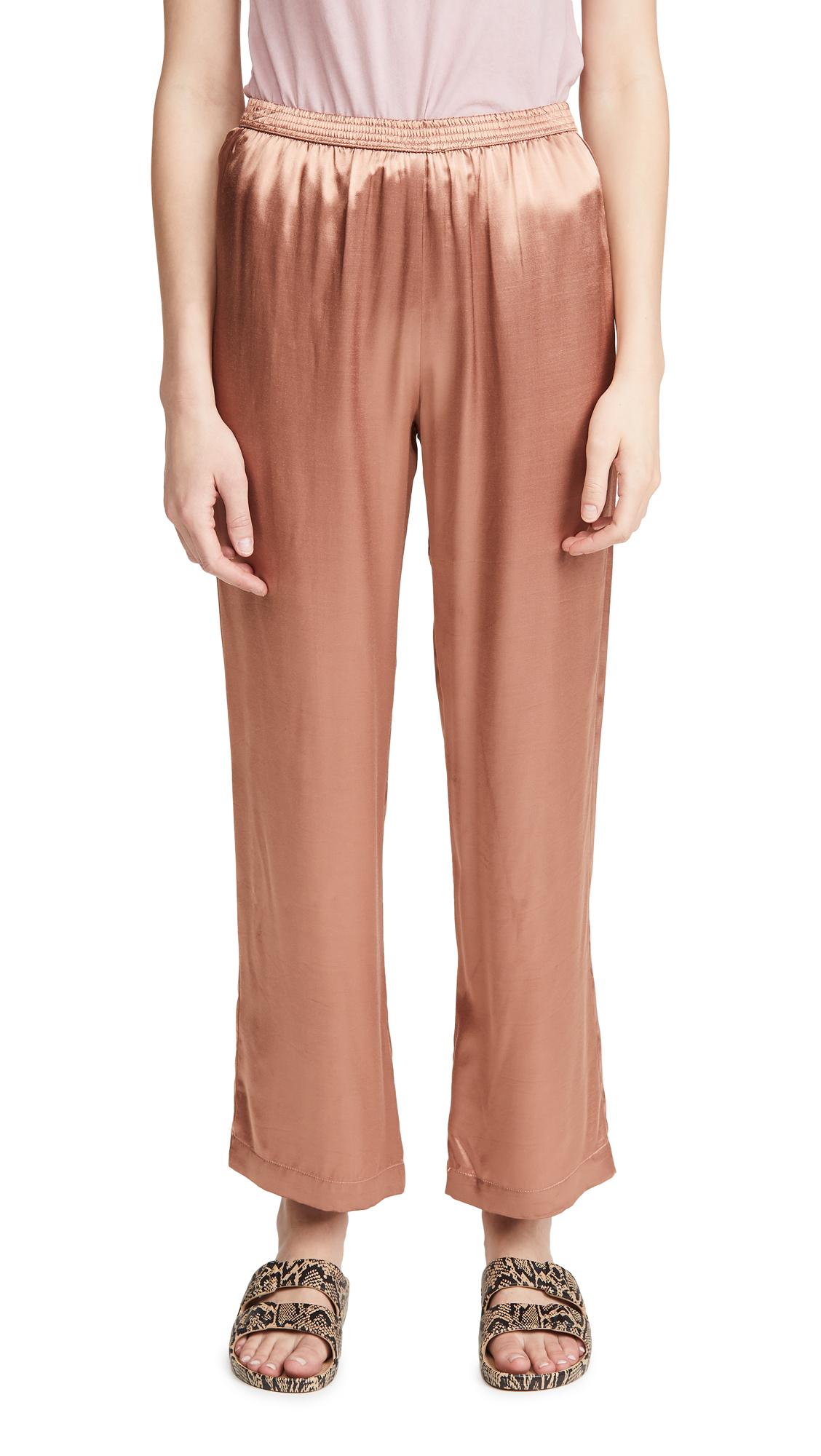 Enza Costa Satin Lounge Pants