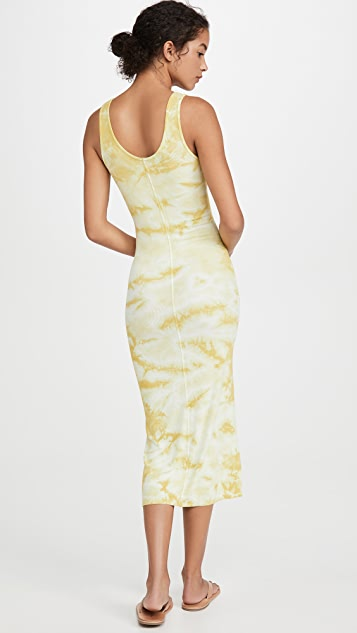Enza Costa Silk Rib Tank Midi Dress