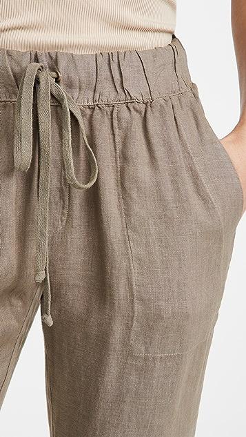 Enza Costa 法式亚麻简约长裤