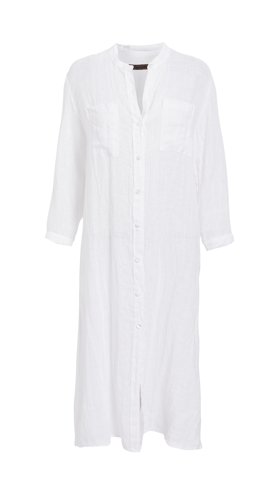 Enza Costa Linen Gauze Shirtdress