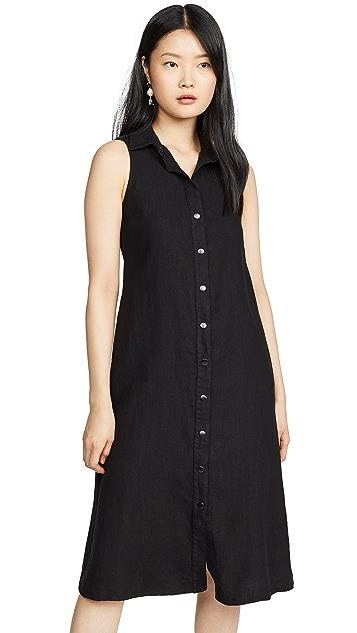 Enza Costa Hemp Sleeveless Midi Dress