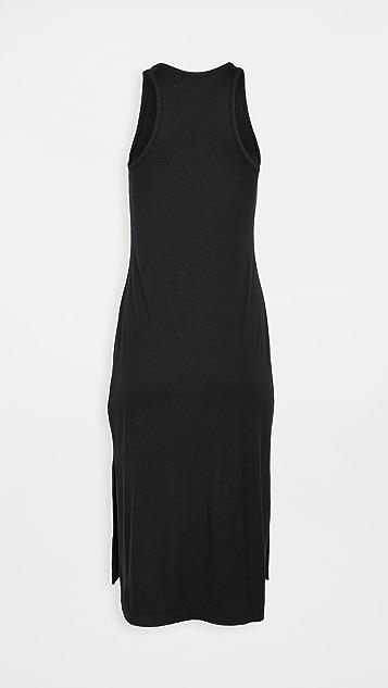 Enza Costa 哑光平纹针织面料侧开衩直筒连衣裙