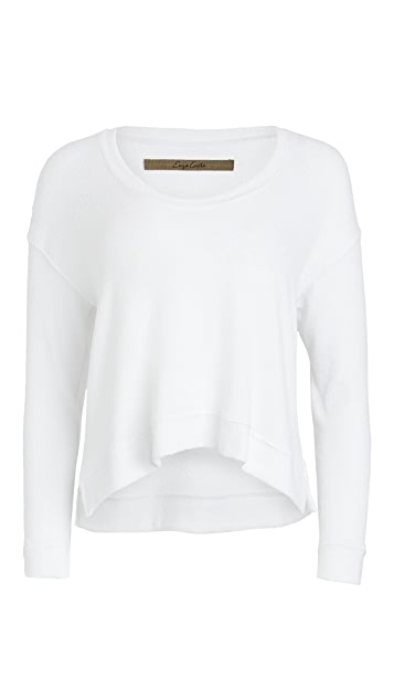 Enza Costa Boucle Cropped Top