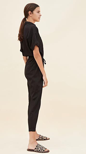 Enza Costa Short Sleeve Jumpsuit