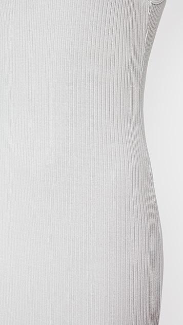 Enza Costa Luxe Rib V Midi Dress