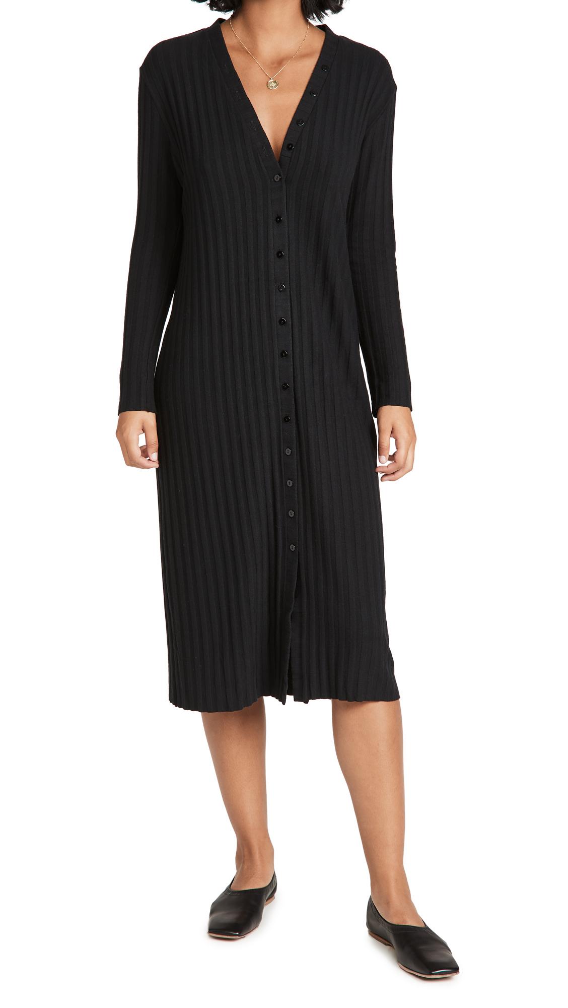 Enza Costa Rib Loose Cardigan Dress