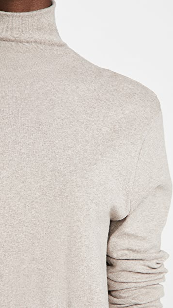 Enza Costa Cotton Rib Cropped Turtleneck