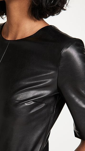 Enza Costa Vegan Leather Crew Top