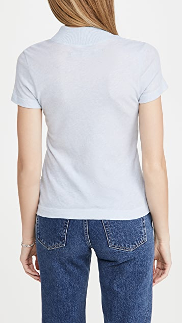 Enza Costa Mock Neck Tee