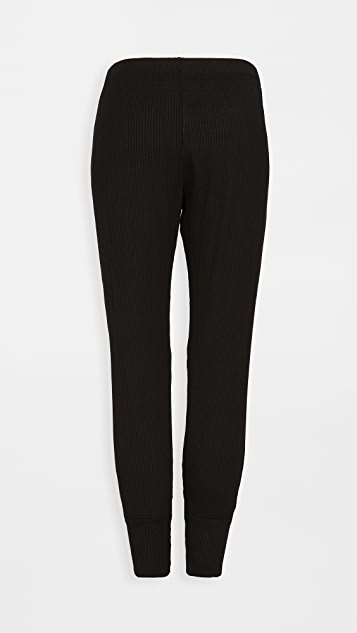 Enza Costa Viscose Rib Split Cuff Jogger Pants