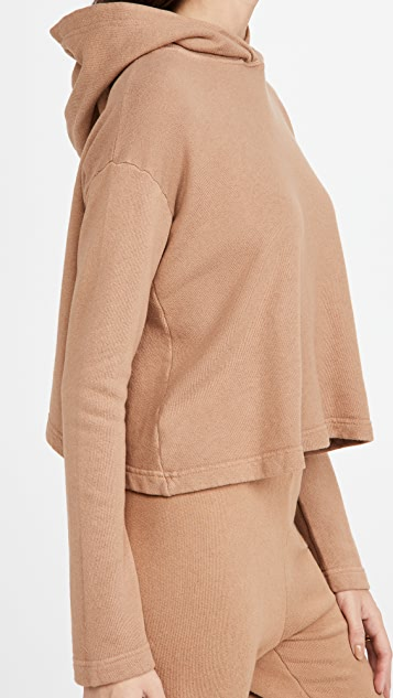 Enza Costa Cropped Hoodie