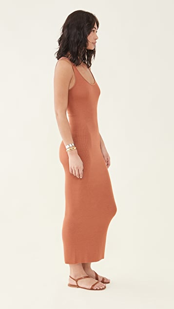 Enza Costa Silk Rib Ankle Length Tank Dress