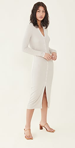 Enza Costa - Silk Rib Cardigan Dress