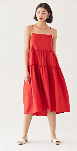 Enza Costa - Cotton Strappy Tiered Dress