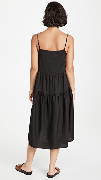 Enza Costa Cotton Strappy Tiered Dress