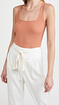 Enza Costa Square Neck Tank