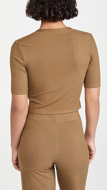 Enza Costa Half Sleeve Cardigan