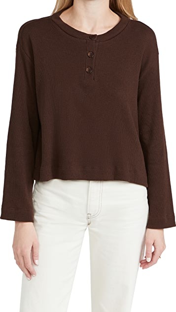 Enza Costa Thermal Oversized Henley
