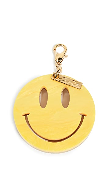 Edie Parker Happy Face Keychain