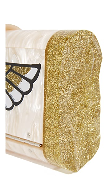 Edie Parker Lara Wings Clutch