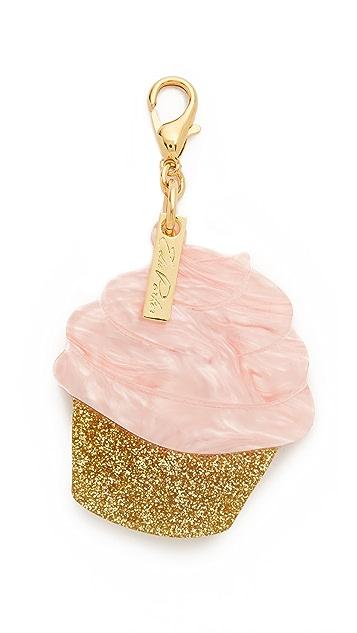 Edie Parker Cupcake Charm Keychain