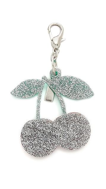 Edie Parker Cherry Charm Keychain