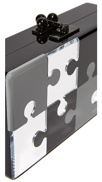 Edie Parker Jean Puzzled Clutch
